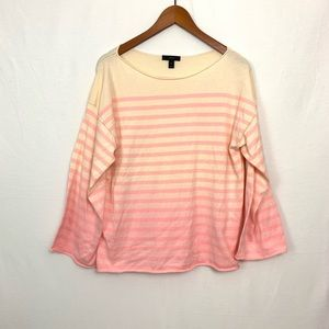 J. Crew | Pink Stripe Ombré Long Sleeve Shirt Sz M